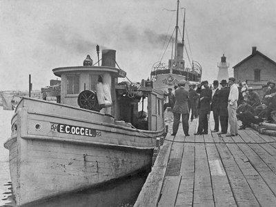 E.C. OGGEL and the VIGILANT at Port Dover