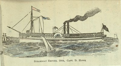 Steamboat EMPIRE, 1844, Capt. D. Howe