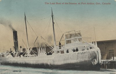 The Last Boat of the Season at Port Arthur, Ont., Canada