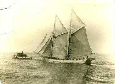 Schooner Cornelia leaving Oswego
