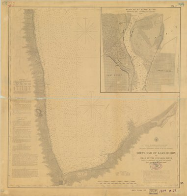 South End of Lake Huron and Head of the St. Clair River, 1859