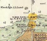 Wreck of L. L. Lamb off Fairport