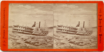 CORINTHIAN in rapids of the Saint Lawrence River
