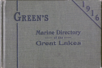 Green's Marine Directory of the Great Lakes, 1916