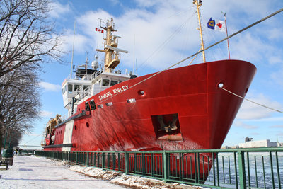 CCGS SAMUEL RISLEY; stationed for icebreaking at Windsor