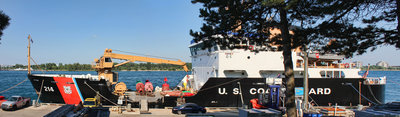 USCGC 214 - HOLLYHOCK; at home base in Port Huron