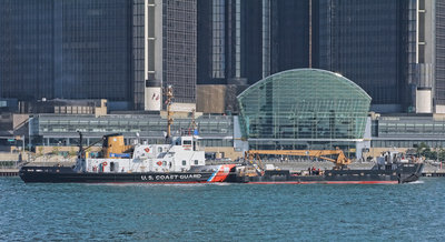 "USCGC Bristol Bay on the scene of the ""Detroit River Readiness 2011"""