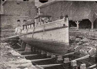 "Tug ""Charley Ferris"" at the Goble drydock in Oswego"