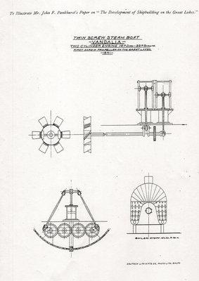 Twin Screw Steam Boat Vandalia two cylinder engine