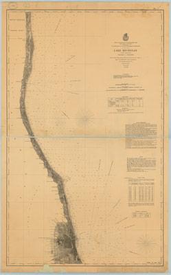 Lake Michigan, Coast Chart no. 4: Chicago to Kenosha, 1877
