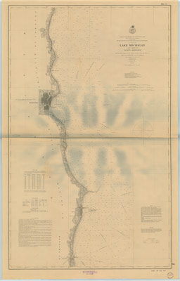 Lake Michigan: Coast Chart No. 3: Vicinity of Milwaukee, 1876