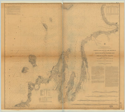 North East End of Lake Michigan, 1863