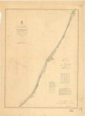 Lake Michigan Coast Chart No. 6: South Haven to New Buffalo, 1877