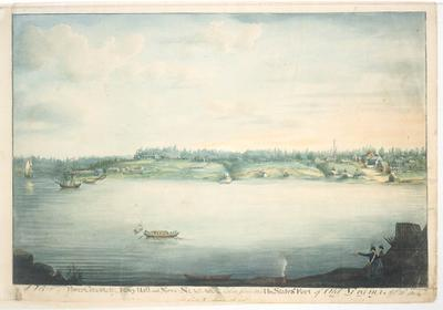 A View of Fort George, Navy Hall and New Niagara, taken from the Un. States Fort of Old Niagara Apl. 20th 1804