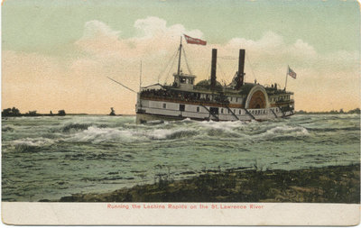 ALGERIAN Running the Lachine Rapids on the St. Lawrence River