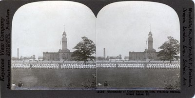 Thousands of Uncle Sam's Sailors, Training Station, Great Lakes, Ill.