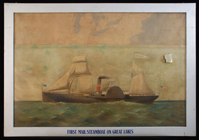 First Mail Steamboat on the Great Lakes