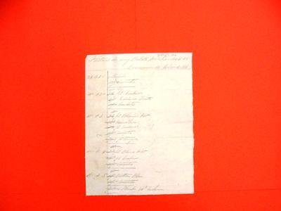 Manifest, 1 Jul 1816: In French: Facture de Cinq Balots Merchandises