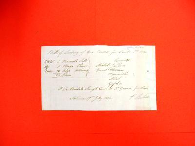 Boat, F. Fochelle, Manifest, 17 Jul 1816