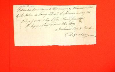 Canoe, Duncan Graham, Manifest, 31 Jul 1816