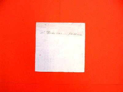 Etienne Lamorandiere, Manifest, 1 Aug 1816