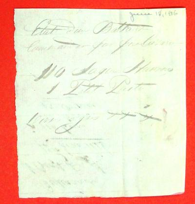 Boats, Manifest, 12 Jun 1816
