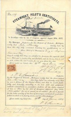 Steamboat Pilot's Certificate