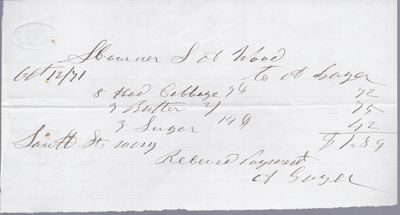 A Gager to S. A. Wood, Receipt