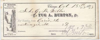 A. Burton Tug to John B. Wilbor, Receipt