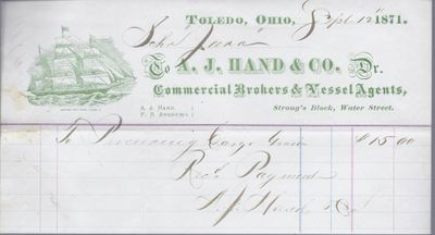 A. J. Hand & co. to Jura, Receipt