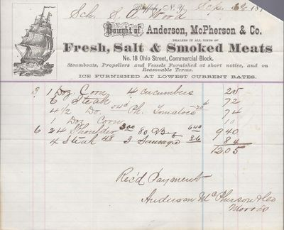 Anderson, McPherson & Co. to S. A. Wood, Accounts