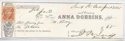 Anna Dobbins, Tug to Jura, Receipt