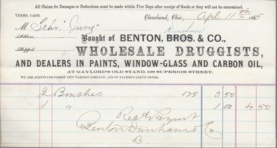 Benton & Dunham & Co. to Jura, Receipt