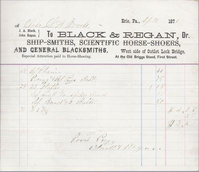 Black & Regan to S. A. Wood, Accounts