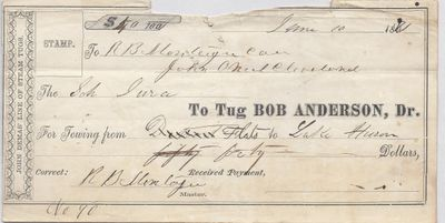 Bob Anderson, Tug to Jura, Receipt