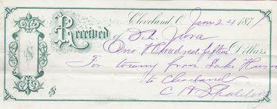 C. H. Spalding to Jura, Receipt