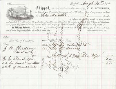 C. L. Lovering to Mystic, Bill of Lading