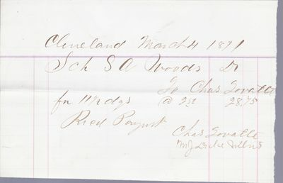 Charles Lovatt to S. A. Wood, Accounts