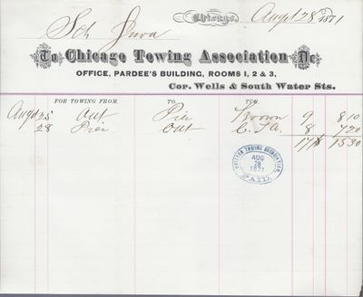 Chicago Towing Association to Jura, Receipt