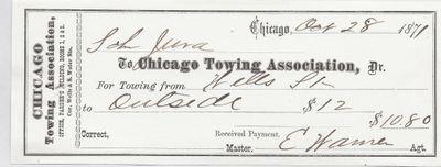 Chicago Towing Association to Jura, Receipt