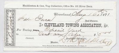 Cleveland Towing Association to Jura, Receipt