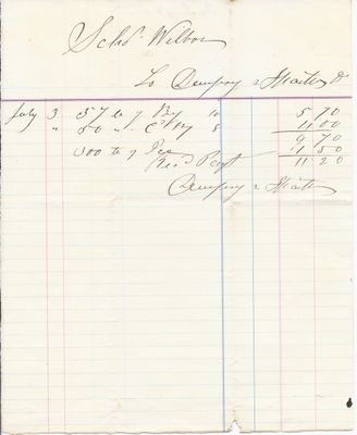 Dewfray & Stratton to John B. Wilbor, Receipt