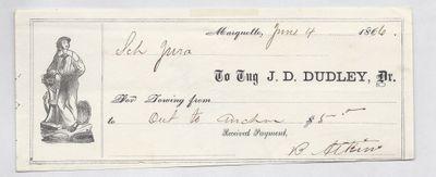 J. D. Dudley, Tug to Jura, Receipt