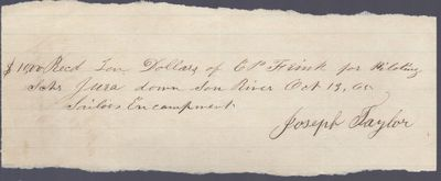 Joseph Taylor to Jura, Receipt