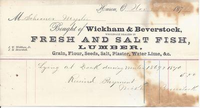 Wickerham & Beverstock to Mystic, Receipt