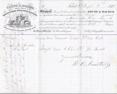 Young & Backus to Jura, Bill of Lading