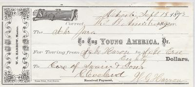 Young America, Tug to Jura, Receipt