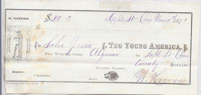 Young America, Tug to Jura, Receipt