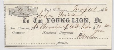 Young Lion, Tug to Jura, Receipt
