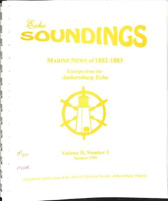 Echo Soundings:  Marine News of 1882-1883